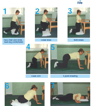 Getting down and up from the floor safely Poster (English)