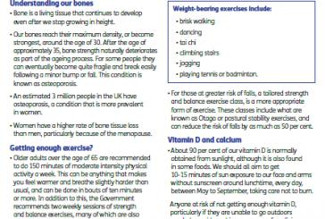 Boost your bones leaflet for Older People (English)