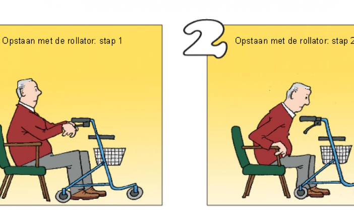 Cartoons about fall prevention (Dutch)