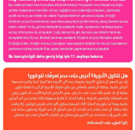 Medication and fall prevention (Dutch, English, Turkish, Arabic)