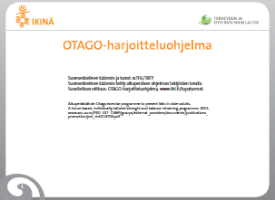 Otago Home Exercise Programme Booklet for Older People (Finnish)