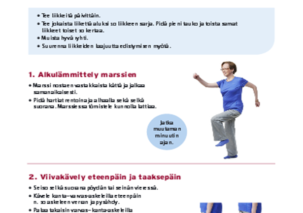 Home exercise leaflets (Finnish)