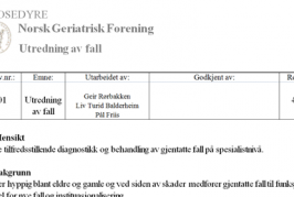 Fall risk assessment (Norwegian)