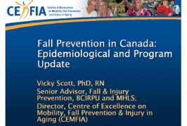 Fall Prevention in Canada:Epidemiological and Program (Scott, 2009)