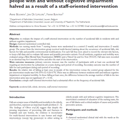 Rate of accidental falls in institutionalised older people with and without cognitive impairment halved as a result of a staff-oriented intervention