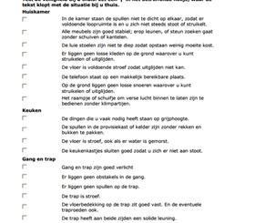Checklist for hazards at home (Dutch)