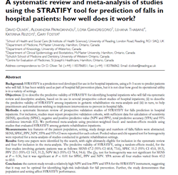 A systematic review and meta-analysis of studies using the STRATIFY tool for prediction of falls in hospital patients: how well does it work?