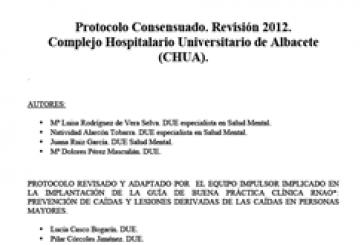Protocolo: Inmovilización de pacientes y sujeción mecánica (Complejo Hospitalario Universitario de Albacete, Spanish)