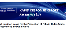 Oral Nutrition Intake for the Prevention of Falls (Reference list)
