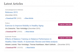 Articles focusing on exercise for health (English)